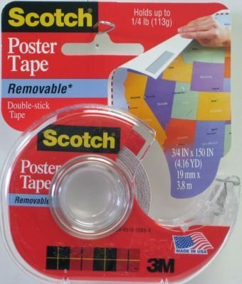3M 109 Wallsaver Removable Mounting Tape, (109 Removable Poster Tape)
