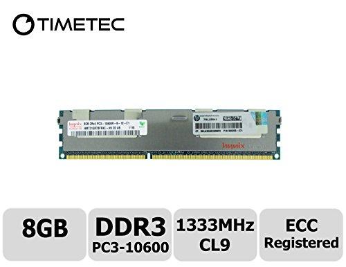 Timetec Hynix  8GB DDR3 1333MHz PC3-10600 Registered ECC 1.5V CL9 2Rx4 Dual Rank 240 Pin RDIMM Server Memory Ram Module Upgrade (Server Only, Not for Desktop/Laptop)(8GB)