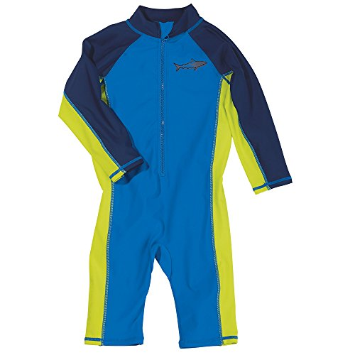 Sun Smarties Toddler Boys UPF 50+ Sun Protection Shark Surf Suit Sunsuit 4T Blue by One Step Ahead (Image #3)