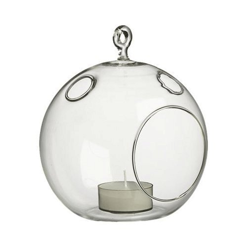 WGV Plant Terrarium/Hanging Candle Holder, Round Base with 1 Hook (6 Pcs) by WGV International