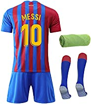 21/22 Barcca Kids Youth Home Kit Short Sleeve Soccer Jersey, Shorts,Socks,Towel,4in1 Gift Training Suit,Color