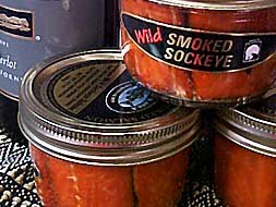 Twelve-7 oz Smoked Sockeye Jars by Wild Alaskan Smoked Salmon & Seafood