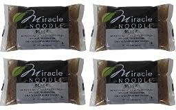 Miracle Noodle Shirataki Fettuccini Black 4 Pack