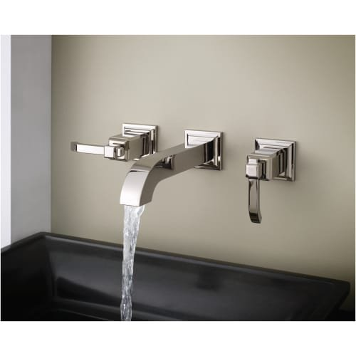 Tuscan Bronze Pfister LG49-WE1 Carnegie Wall Mounted Bathroom Faucet Less Rough In Valve