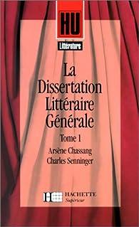 La dissertation en littérature, méthode et exemple