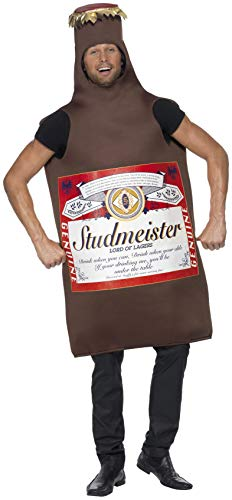 Smiffys Men's Studmeister Beer Bottle Costume, The Lord of Lagers, Funny Side, Serious Fun, One Size, 20391 ()