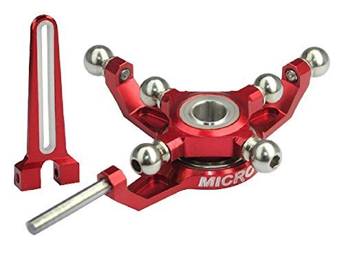 Aluminum Swashplate with Anti-Rotation Guide, Red: Blade 200 SR - Guide Swashplate