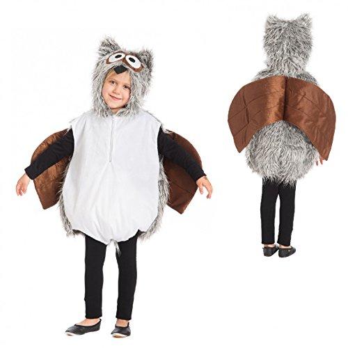 Costume per bambini Eulchen Ta. 128 134 Carnevale per bambini Carnevale Owl Costume animale Uccello