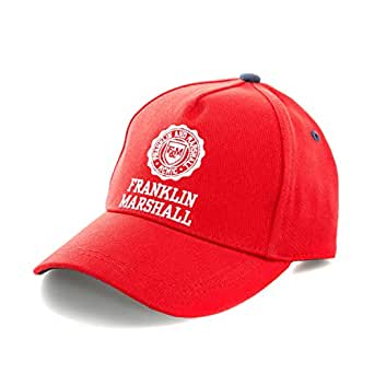 Amazon.com  Franklin and Marshall Women s Logo Cap One Size Red ... d5030a1b665