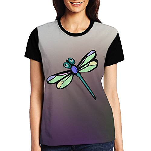 Women Cute Cosy Premium Fitted T-Shirts (Dragonfly Womens Fitted T-shirt)