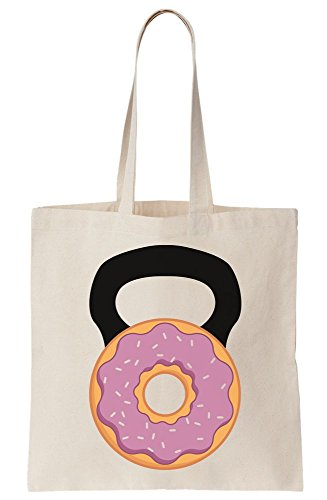 Donutbell Weight Lift Donut Kettlebell Canvas Tote Bag tpxd50Hwq5