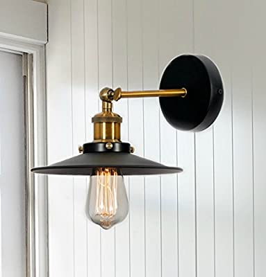 LightLady Studio - Wall Light - Sconce - Industrial Wall Light with Nostalgic Appeal - Black Metal Farmhouse Sconce - Vintage Lighting for Kitchens, Bedrooms, Living Rooms and Dining Rooms