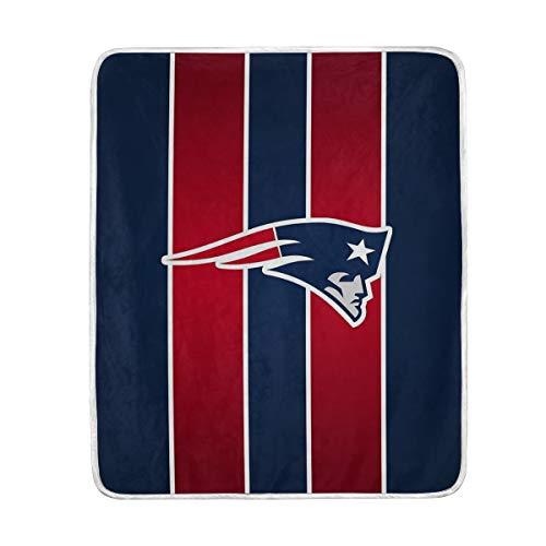 CLAZANA England Patriots Warm Ultra Soft Plush Fleece Funny Throw Blanket (50