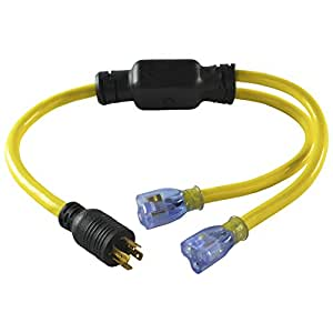 Conntek YL1420520S 20-Amp 125/250-volt L14-20P Generator Y-Adapter