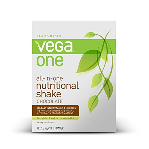 Vega One All-in-One Nutritional Shake, Chocolate, 10 Count 1.60 oz