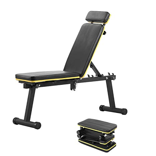 ZENOVA Weight Bench Adjustable ,Foldable Workout Bench for Full Body Exercise, Utility Strength Training Bench Fast…
