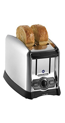Proctor Silex Commercial 22850 2 Slice Slot Toaster, Extra Wide, Bagel Function, Front Crumb Tray,  Durable Brushed Chrome Finish, 1.5