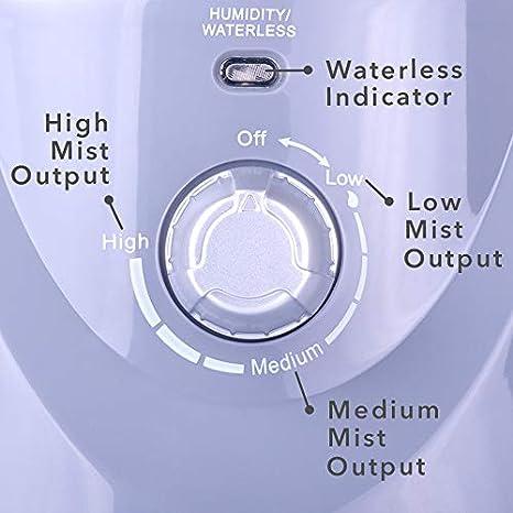 Air Innovations MH-408-PLAT Smart Mist Ultrasonic Humidifier Platinum