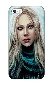 1209906K91770782 Iphone High Quality Tpu Case/ Angel In Silk Case Cover For Iphone 5/5s