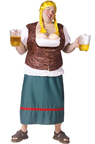 [Men's Bavarian Beauty Beer Girl Adult Costume] (German Beer Costumes)