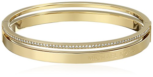 Michael Kors Jewelry Hinged Gold Bangle Bracelet