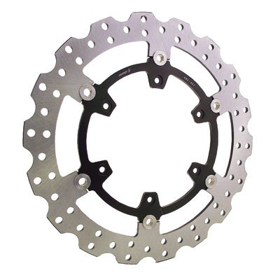 Warp 9 Oversized Floating Brake Rotor Kit, Front 320mm - Fits: Kawasaki KLR650 2008-2018