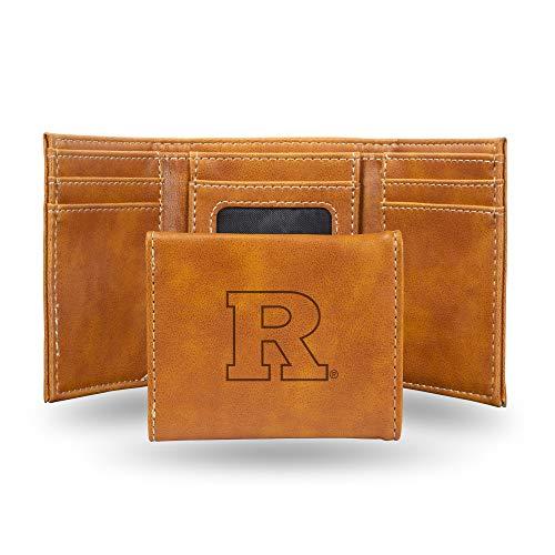 Rico Industries NCAA Rutgers Scarlet Knights Laser Engraved Tri-Fold Wallet, Brown ()
