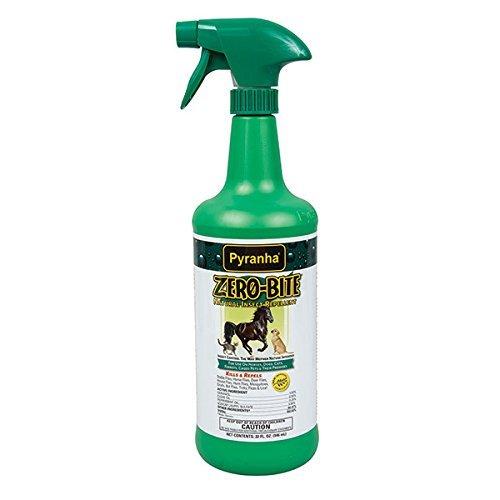 Pyranha Zero Bite Flea Tick Spray Horse 32oz Natural No Chemical Pesticide 3 Pack