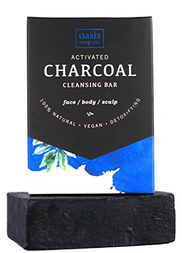 (Activated Charcoal Soap Bar, Detoxifying, Certified Organic Ingredients, Paraben and Sulfate-Free. All-Natural. Fights Acne, Psoriasis, Eczema, Rosacea, Flaky Scalp)