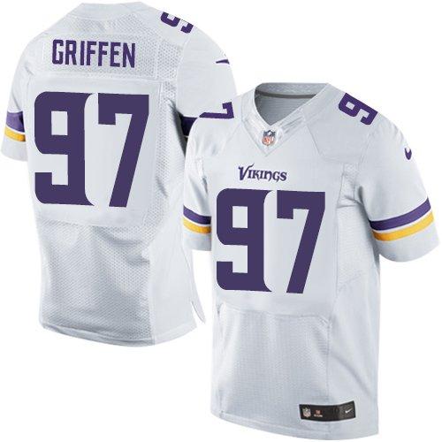 buy online 45963 b39cf Nike Men's #97 Everson Griffen Elite White Jersey: Amazon.ca ...