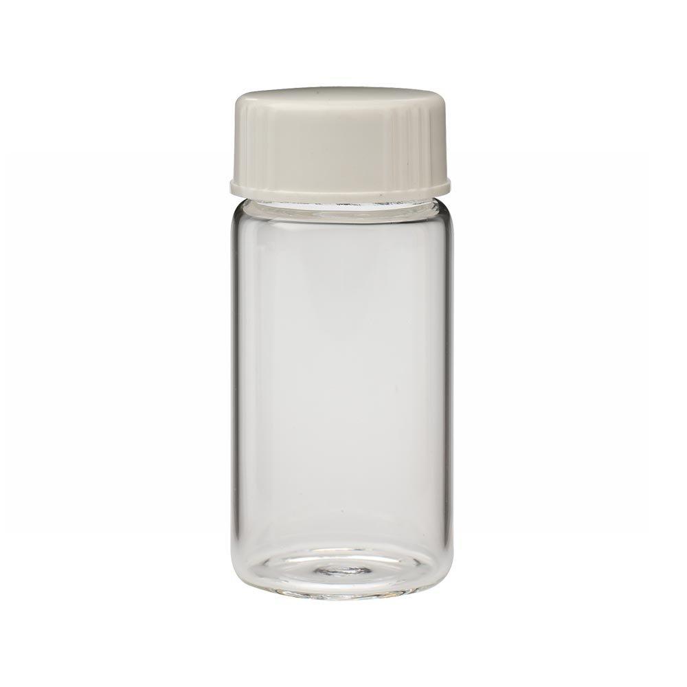 Wheaton 986562 Borosilicate Glass 20mL Liquid Scintillation Vial, with 24-400 White Urea Metal Foil Lined Screw Cap Attached