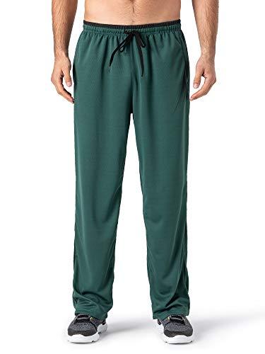MAGCOMSEN Sweatpants for Men Open Bottom Loose Fit Workout Pants Men Zipper Pockets Running Pants Men Cold Weather