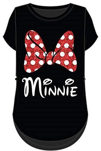Disney Minnie Mouse Red Sparkle Bow T-Shirt for Mom and Daughter (Women's, Extra Large)