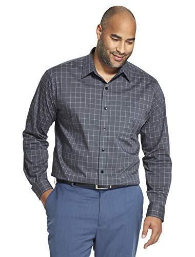 Van Heusen Men's Tall Traveler Stretch Non Iron Long Sleeve Shirt, Black, 2X-Large Big ()