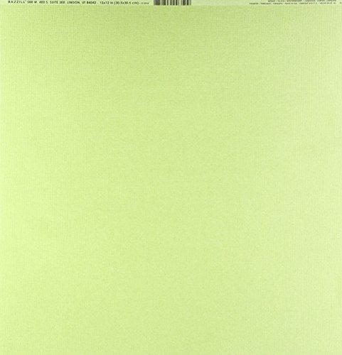 Bazzill Album - Bazzill BAZ309237 Cdstk 12x12 Mono Parakeet Card Stock