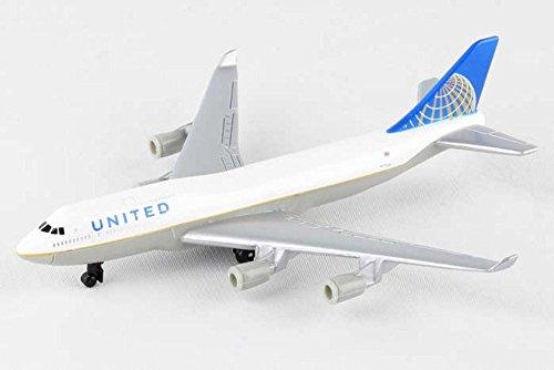Showcasts United 747 Single Plane, White - Daron RT6264 - Diecast Model Airplane (Plane Replica)