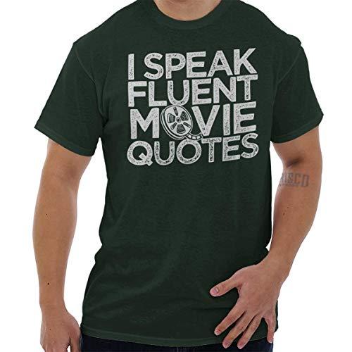 Brisco Brands Speak Fluent Movie Quotes Funny Nerd Geek T Shirt Tee