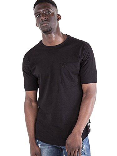 883 Cuello Camisa Police Redondo Negro Frost Hombre Bw0vPqxfp