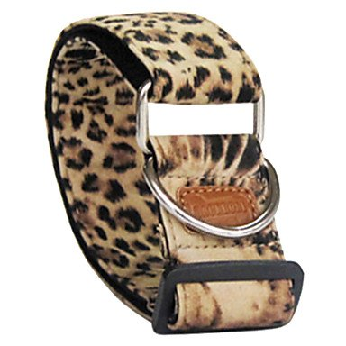 Quick shopping Adjustable Leopard Printing Flocking Collar for Dogs (3.8 x 60cm)