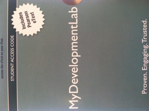 NEW MyDevelopmentLab -- Standalone Access Card -- for Development Across the Lifespan (6th Edition)