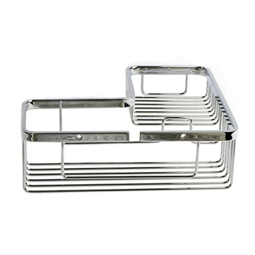 Italia NA0607 Naples Polished Chrome Corner Shower Basket (Polished Chrome Basket)