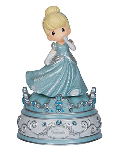 - Precious Moments, Disney Showcase Collection, Cinderella, Resin Music Box, 144102