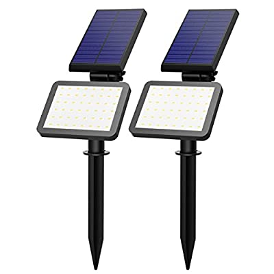 VicTsing 2 Pack Solar Spotlight , Outdoor Landscape Garden Spotlight Auto On/Off Security Night Lights for Patio Yard Driveway