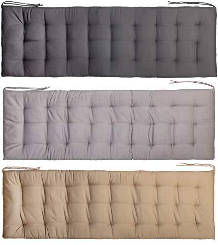 Brandsseller Coussin de banc,120 x 40 x 4cm, avec 27points, pour l'intérieur et l'extérieur