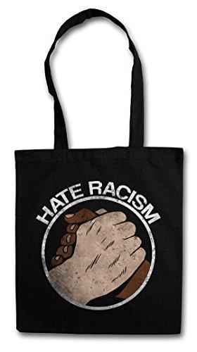 Hate Racism Hipster Bag Beutel Stofftasche Einkaufstasche