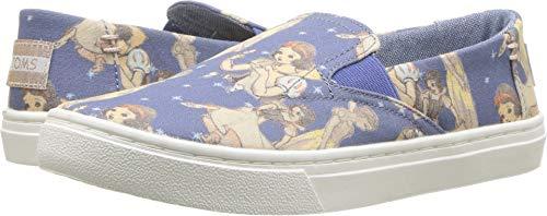TOMS Kids Girl's Luca Disney¿ Princesses (Little Kid/Big Kid) Blue Snow White Printed Canvas 2 M US Little Kid M ()