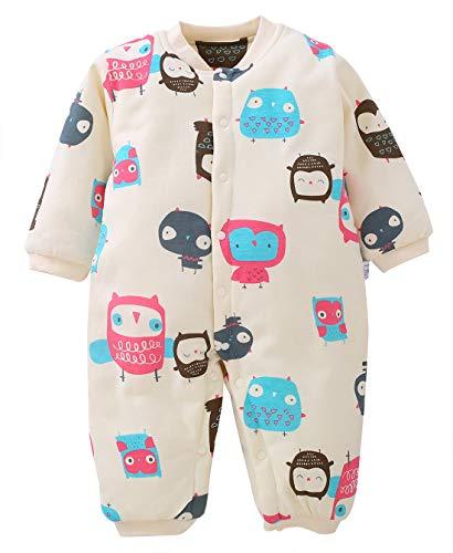 b8a3e01e45471 ロンパース 新生児 カバーオール ベビー 肌着 長袖 前開き 秋冬 綿素材 赤ちゃん 服 出産祝い お出かけ