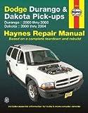 Haynes Repair Manuals Dodge Durango, 00-03 & Dakota Pick-ups, 00-04 (30022)