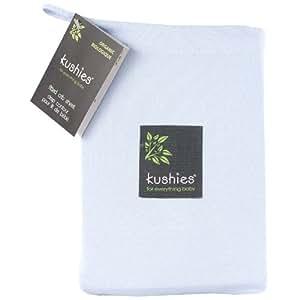 Kushies Organic Jersey Crib Fitted Sheet, Light Blue