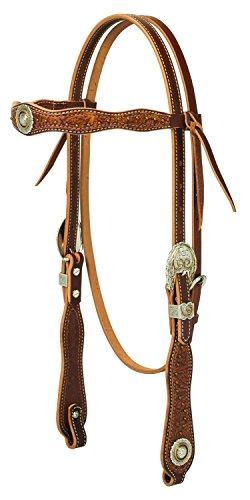 Western Edge (Weaver Leather Western Edge Browband Headstall,)